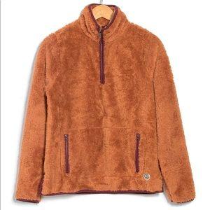 MARINE LAYER Corbet Sherpa Pullover Jacket Top